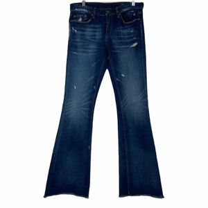 Blanknyc bootcut jeans raw hem distressed jeans